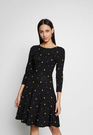 FIT AND FLARE DRESS - Jerseykjoler - black