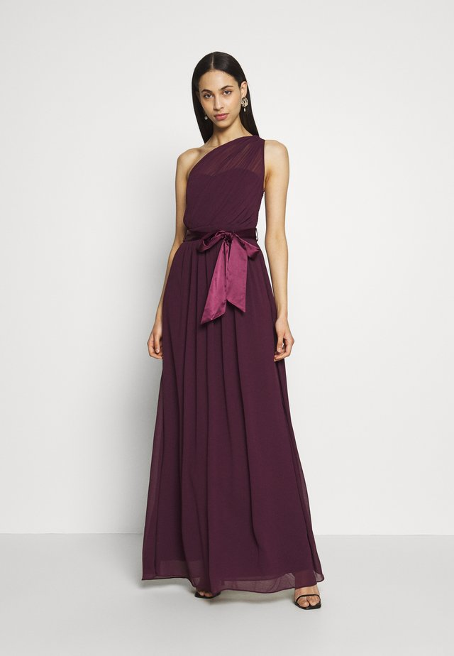 SADIE SHOULDER MAXI DRESS - Abito da sera - mulberry