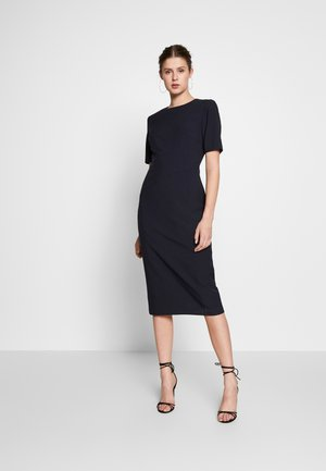 CONTOUR SEAM SHORT SLEEVE DRESS - Pouzdrové šaty - navy