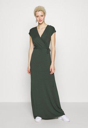 PLAIN WRAP MAXI DRESS - Maxi-jurk - khaki