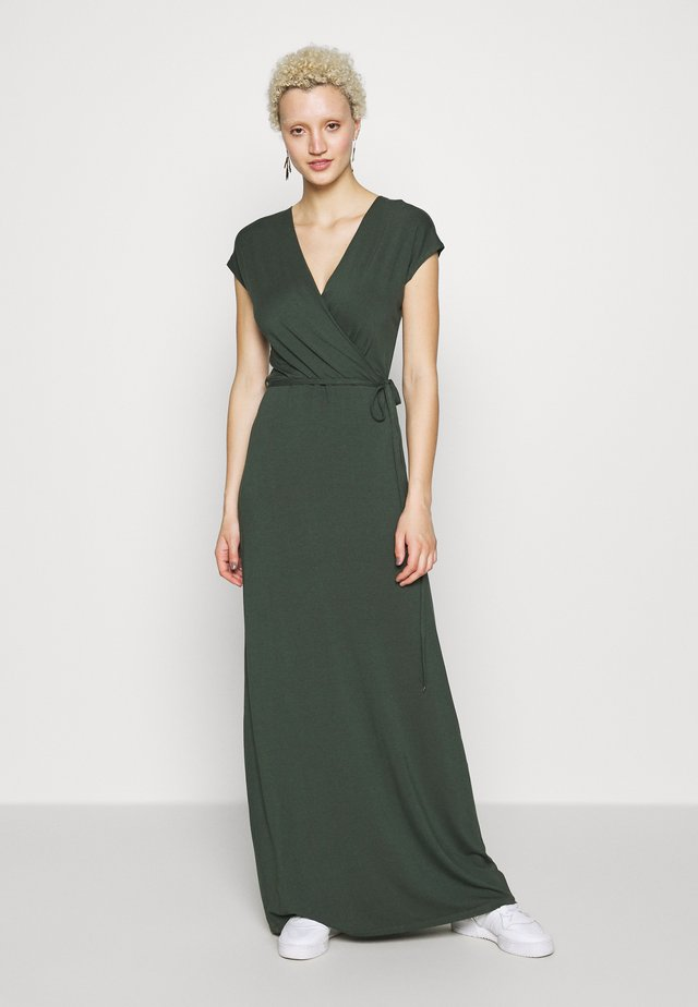 PLAIN WRAP MAXI DRESS - Maksimekko - khaki