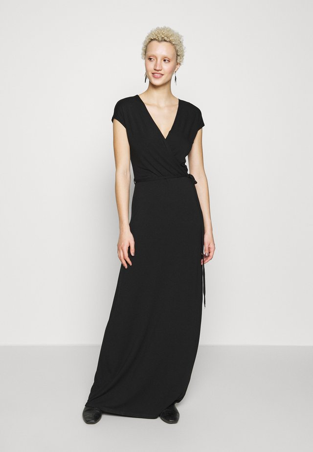 PLAIN WRAP MAXI DRESS - Maksimekko - black