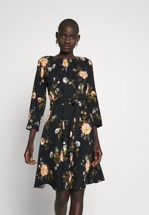 FLORAL PRINT DRESS - Freizeitkleid - black