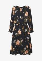FLORAL PRINT DRESS - Kjole - black