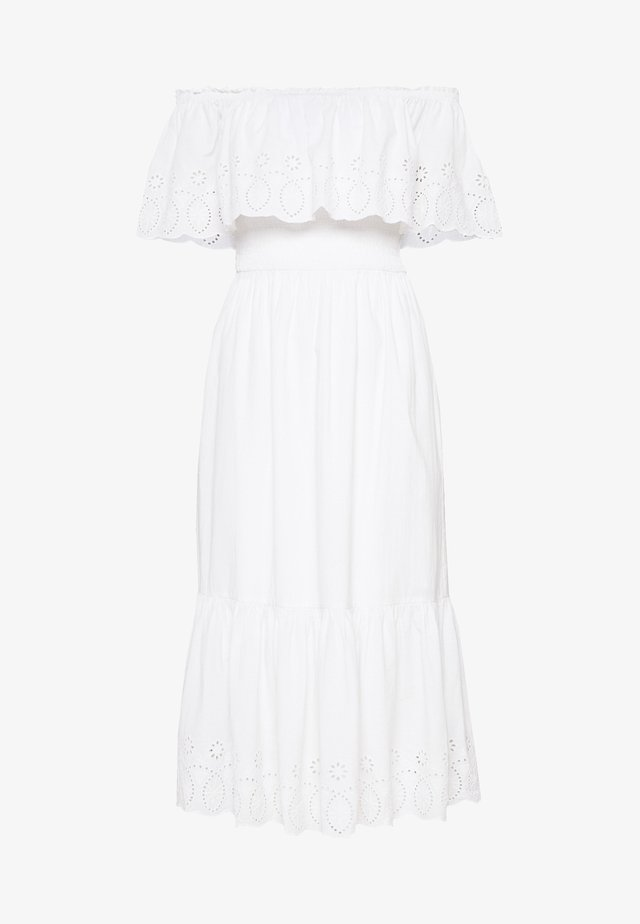 BRODERIE TRIED FRILL DRESS - Vestito estivo - ivory