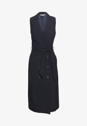 BUTTON HEM TAILORED DRESS - Shift dress - navy