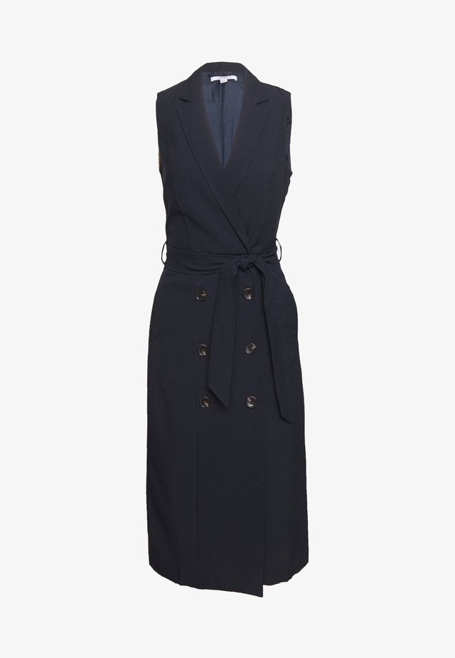 BUTTON HEM TAILORED DRESS - Kotelomekko - navy
