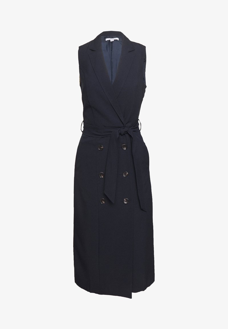 Dorothy Perkins Tall - BUTTON HEM TAILORED DRESS - Etui-jurk - navy