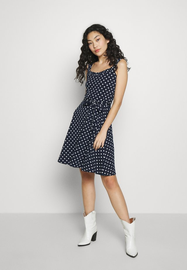 SPOT STRAPPY DRESS - Trikoomekko - black