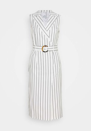 TALL PINSTRIPE SLEEVELESS DRESS - Denní šaty - white