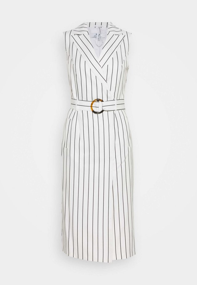 TALL PINSTRIPE SLEEVELESS DRESS - Kjole - white