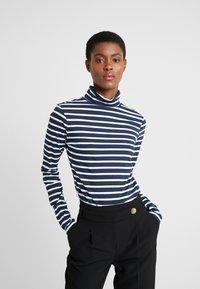Dorothy Perkins Tall - HIGH NECK STRIPE - Långärmad tröja - navy - 0