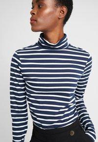 Dorothy Perkins Tall - HIGH NECK STRIPE - Långärmad tröja - navy - 4