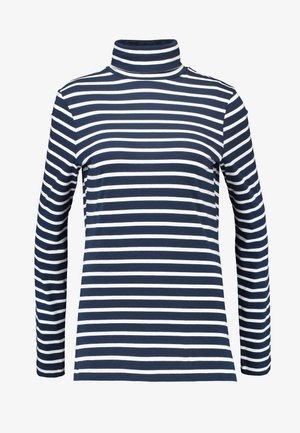 HIGH NECK STRIPE - Langærmede T-shirts - navy