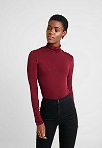 Dorothy Perkins Tall - HIGH NECK - Topper langermet - dark red - 0