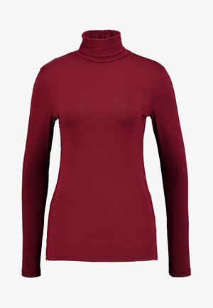 HIGH NECK - Top s dlouhým rukávem - dark red