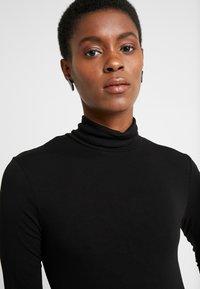 Dorothy Perkins Tall - HIGH NECK - Long sleeved top - black - 4