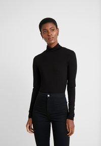 Dorothy Perkins Tall - HIGH NECK - Long sleeved top - black - 0
