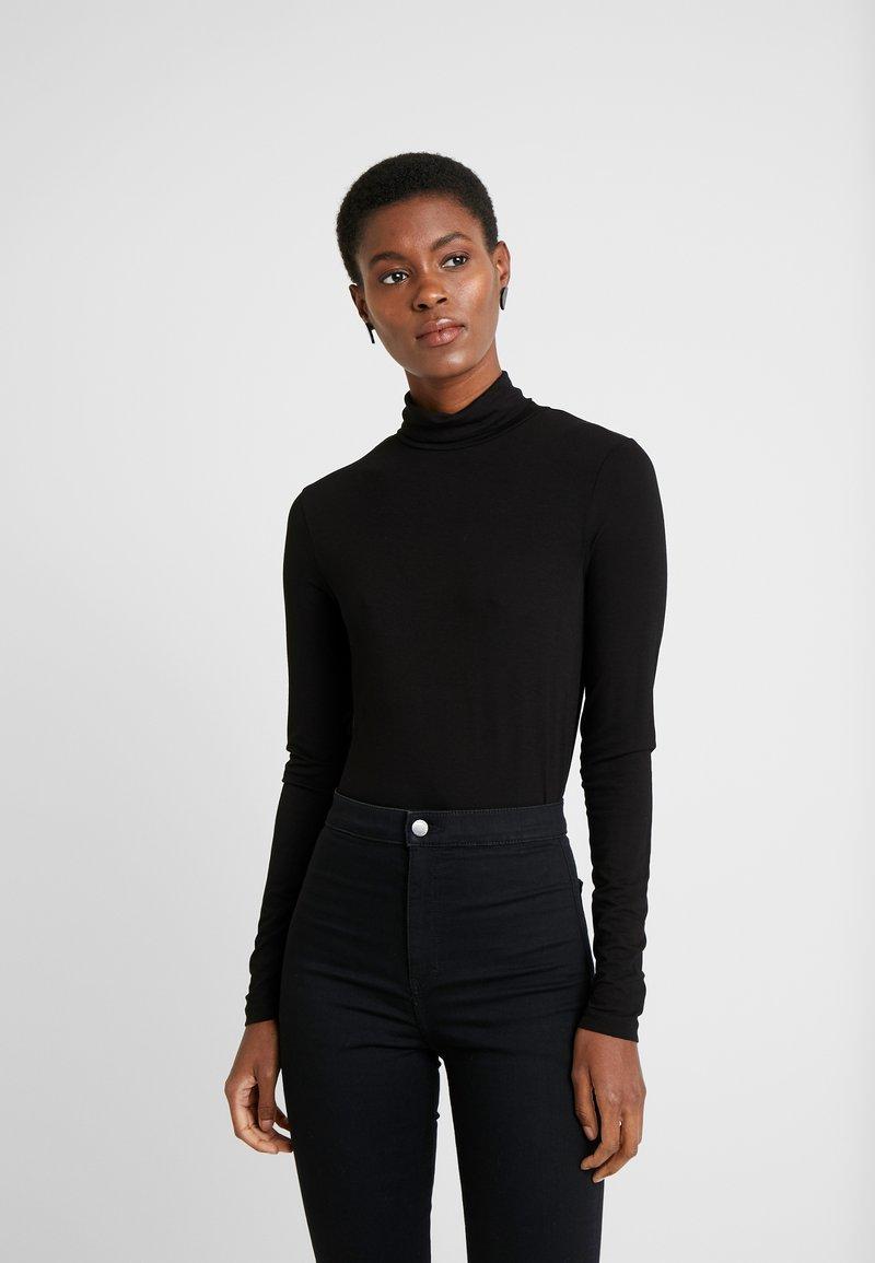 Dorothy Perkins Tall - HIGH NECK - Long sleeved top - black