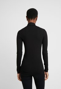 Dorothy Perkins Tall - HIGH NECK - Long sleeved top - black - 2
