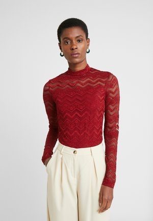 ZIG ZAG - Long sleeved top - red