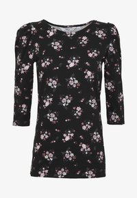 Dorothy Perkins Tall - TALL PRINTED FLORAL PUFF SLEEVE - Camiseta de manga larga - black - 4