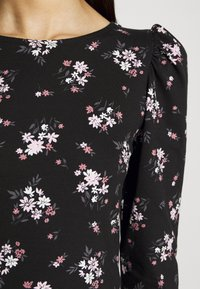 Dorothy Perkins Tall - TALL PRINTED FLORAL PUFF SLEEVE - Camiseta de manga larga - black - 5