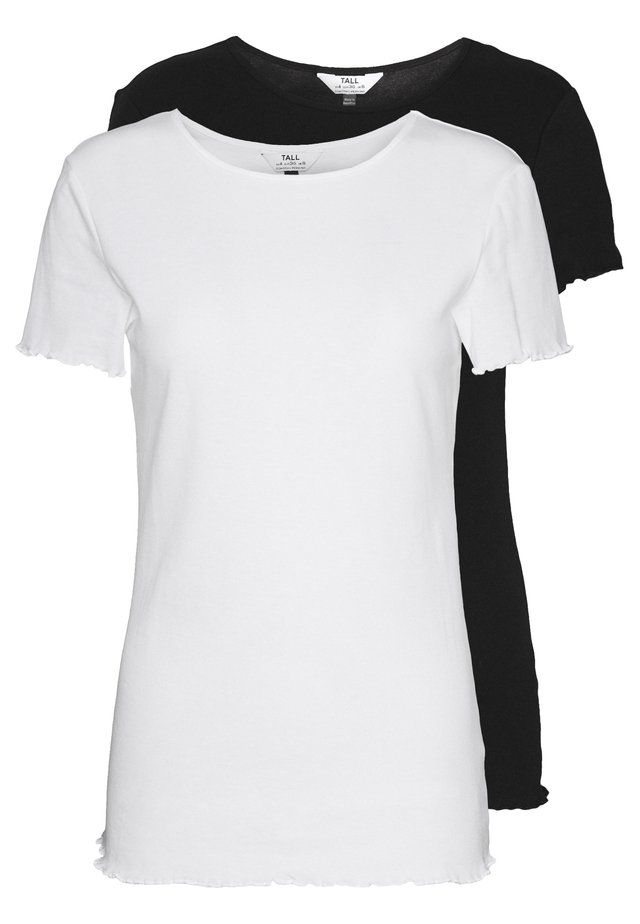 LETTUCE EDGE TEE 2 PACK  - T-shirts - black/white