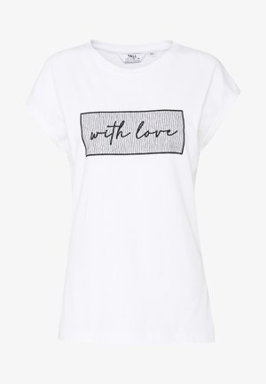 WITH LOVE SLOGAN TEE - T-shirts med print - white