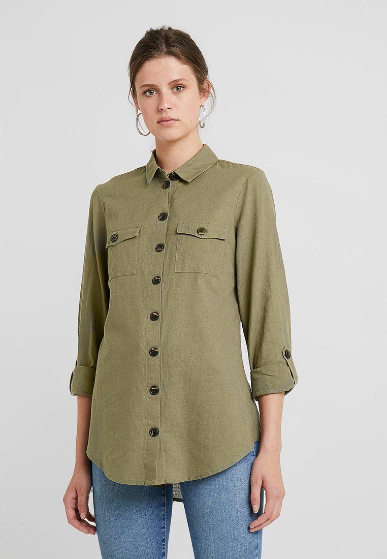 Dorothy Perkins Tall - SAFARI - Button-down blouse - khaki