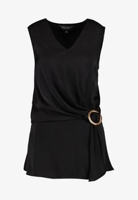 Dorothy Perkins Tall - BUCKLE SIDE SLEEVELESS - Blouse - black - 3