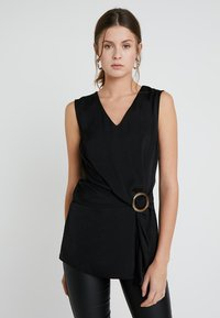 Dorothy Perkins Tall - BUCKLE SIDE SLEEVELESS - Blouse - black - 0