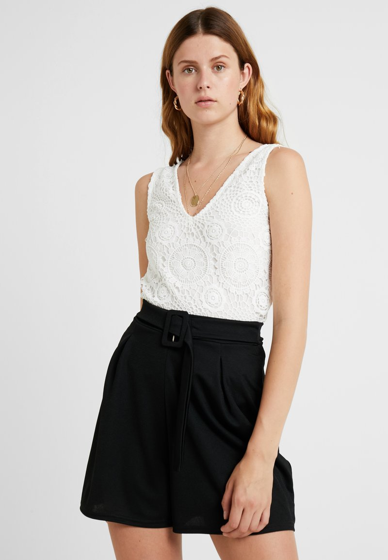 Dorothy Perkins Tall - GUIPURE - Top - ivory