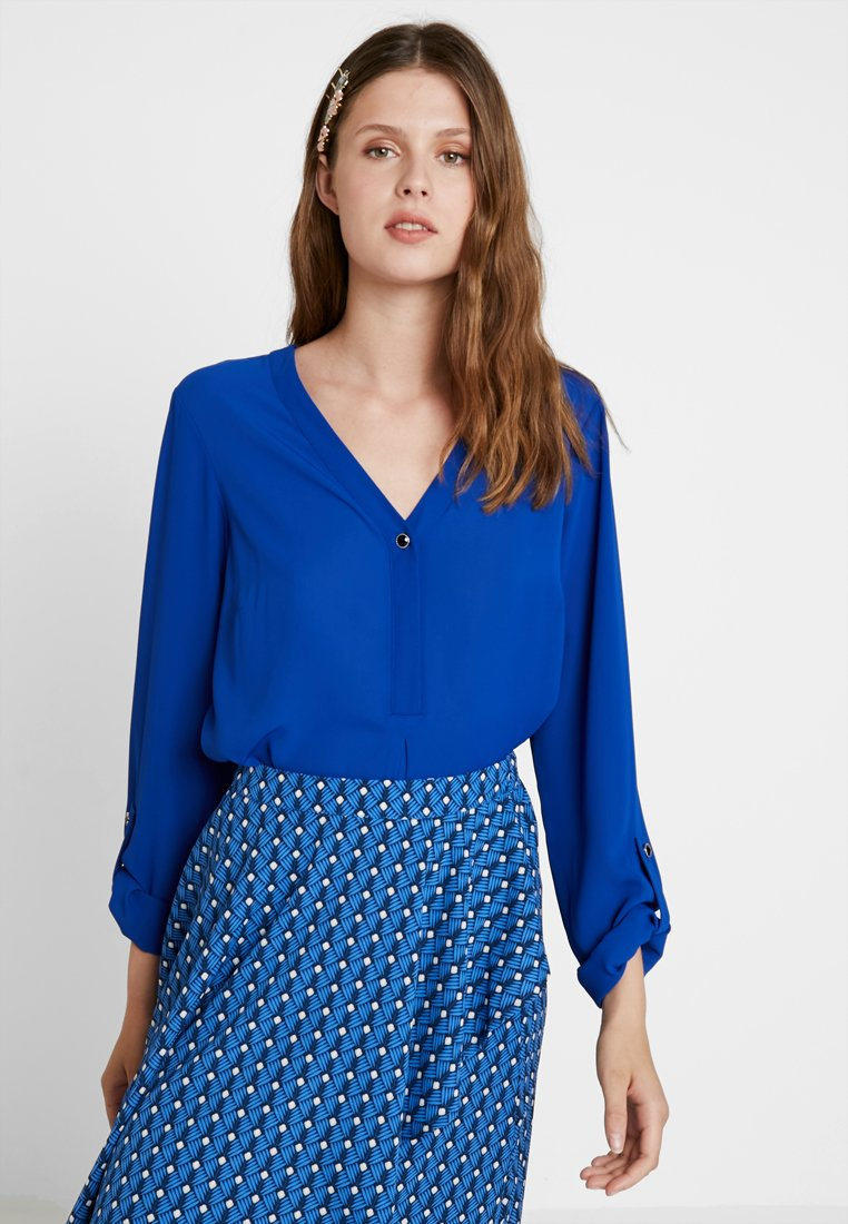 Dorothy Perkins Tall - ONE BUTTON ROLL - Blouse - cobalt