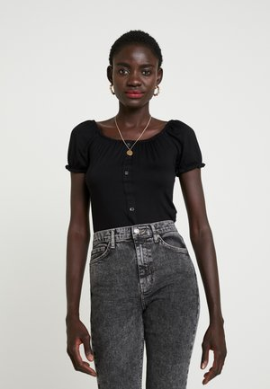 MILKMAID 2 PACK - T-shirt med print - black/ivory