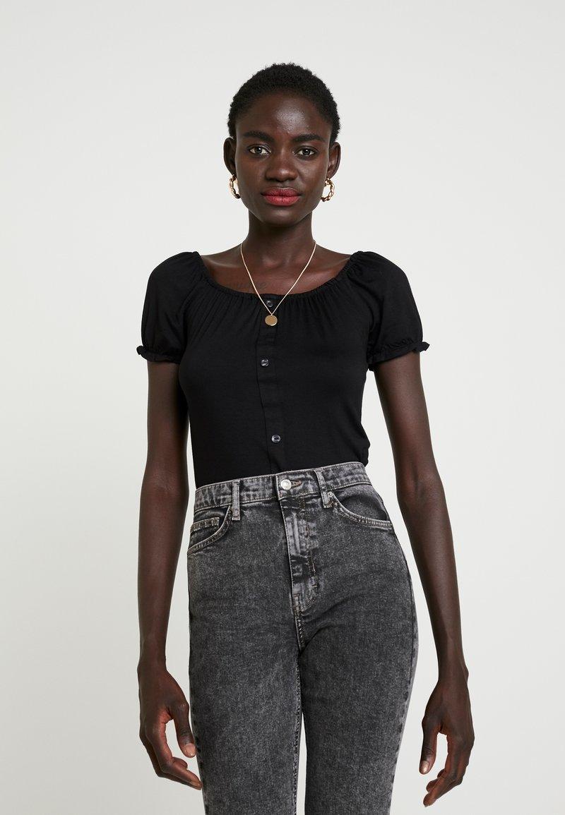Dorothy Perkins Tall - MILKMAID 2 PACK - Print T-shirt - black/ivory