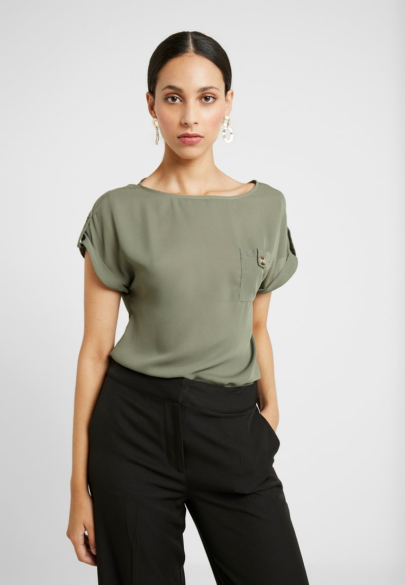 Dorothy Perkins Tall - PLAIN SOFT TEE - Blouse - khaki