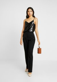Dorothy Perkins Tall - SEQUIN CAMI - Top - black - 1