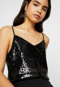 Dorothy Perkins Tall - SEQUIN CAMI - Top - black - 4