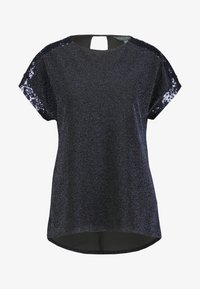 Dorothy Perkins Tall - LUREX SEQUIN TEE - T-shirt imprimé - navy