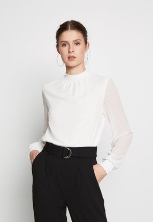 SHIRRED NECK - Blouse - ivory