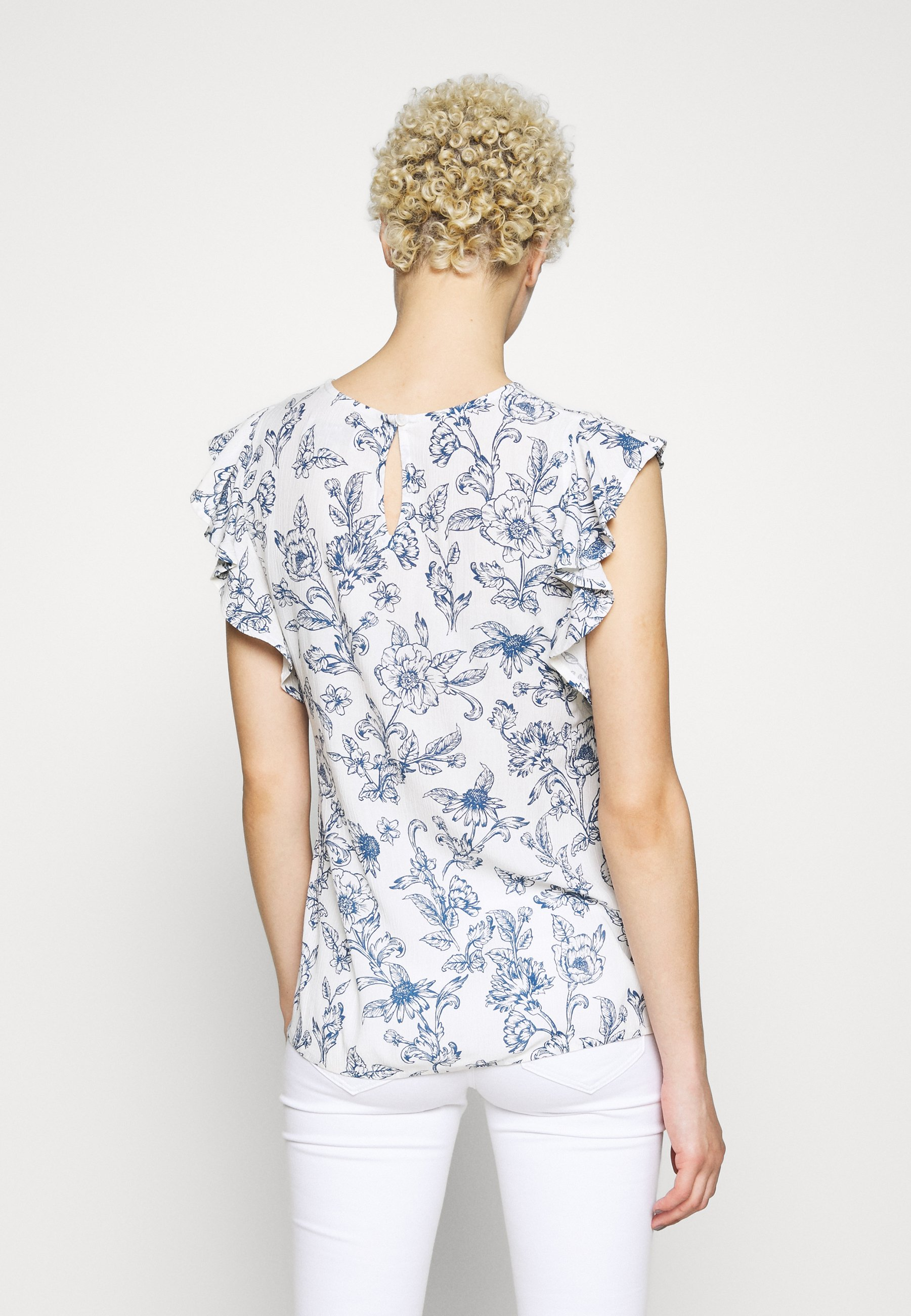 Dorothy Perkins Tall TOILE DE JOIE RUFFLE - Blouse - ivory
