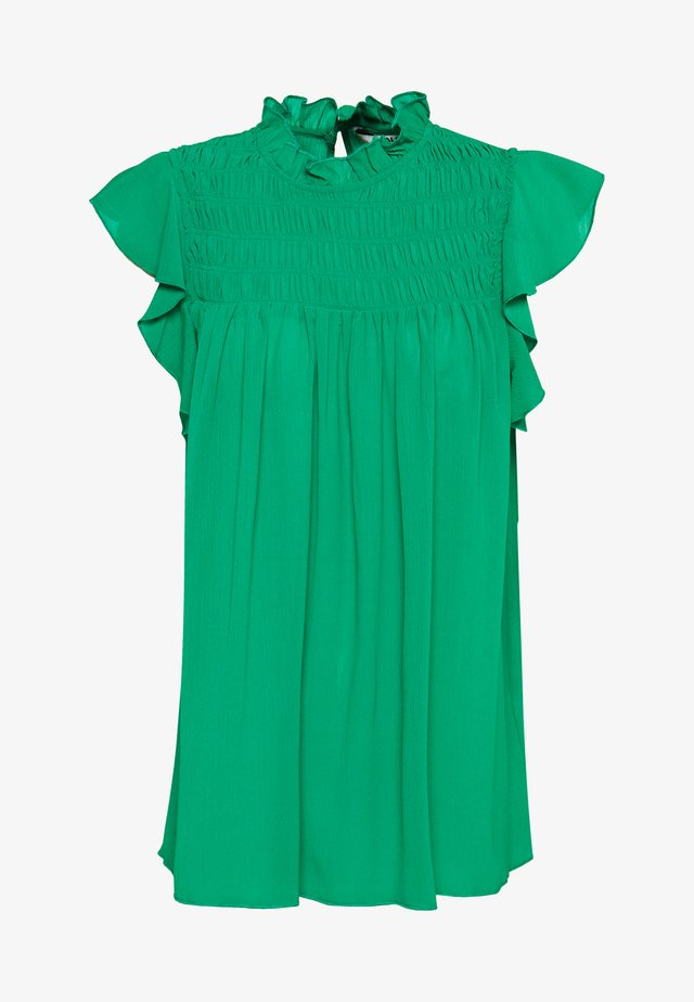 TALL SHIRRED NECK TOP - Bluser - green