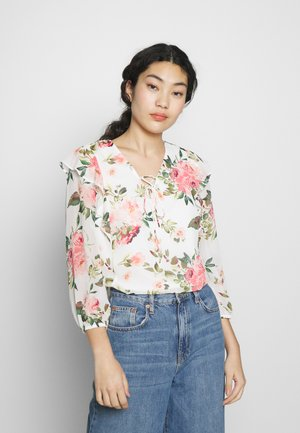 FLORAL RUFFLE BLOUSE - Bluse - ivory