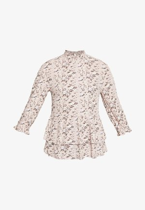 SHIRRED HIGH NECK - Blouse - lilac