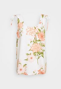 Dorothy Perkins Tall - TALL TIE SHOULDER PRINTED VEST - Blouse - ivory - 0