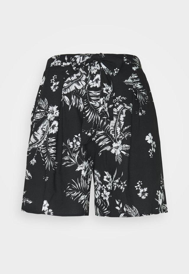 TALL TIE WAIST  - Shorts - black