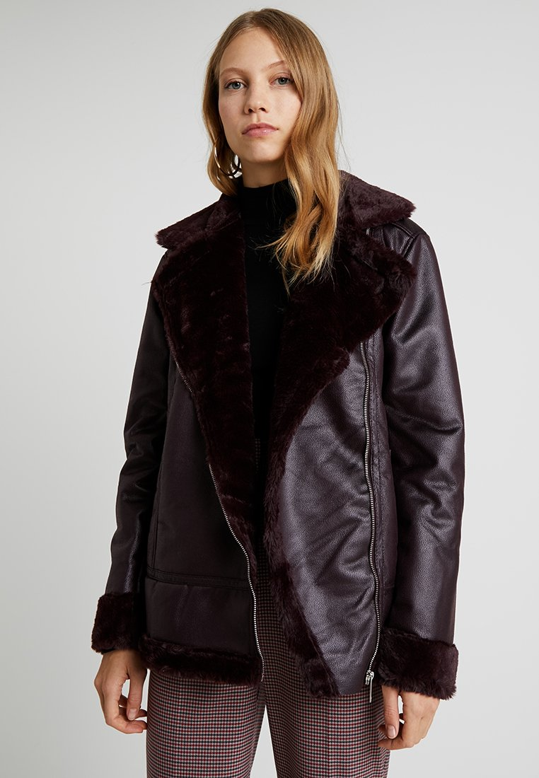 Dorothy Perkins Tall - Faux leather jacket - red