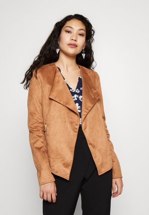 WATERFALL - Faux leather jacket - tan