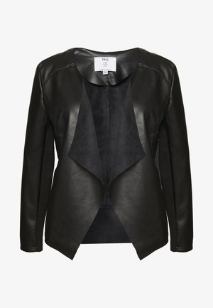 WATERFALL JACKET - Keinonahkatakki - black